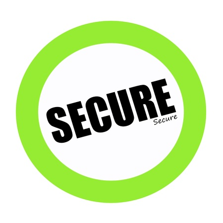 trespass: SECURE black stamp text on green