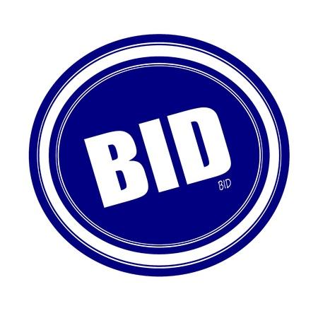 bid: UNA OFERTA sello texto blanco sobre azul Foto de archivo