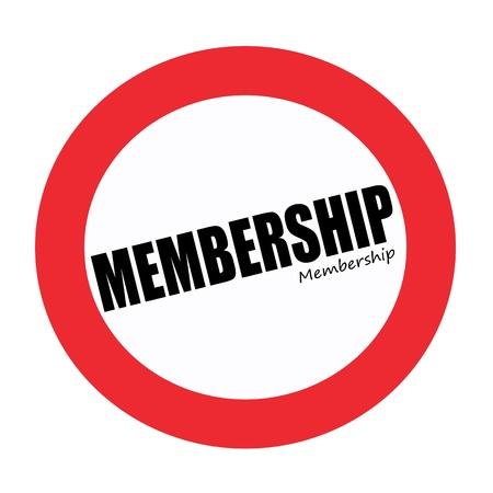private club: MEMBERSHIP black stamp text on white