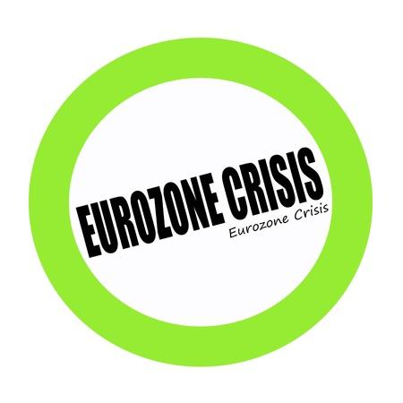 zone euro: ZONE EURO CRISE texte de timbre noir sur vert