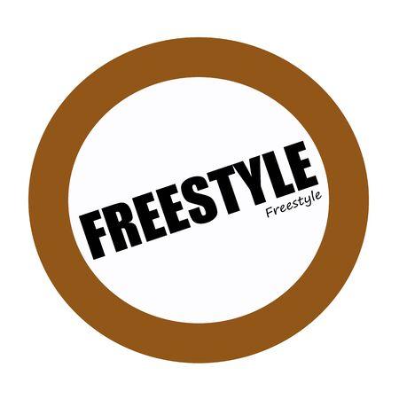 freestyle: FREESTYLE black stamp text on white
