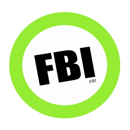 conspire: FBI black stamp text on white Stock Photo