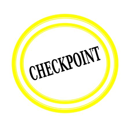 backgroud: CHECKPOINT black stamp text on white backgroud
