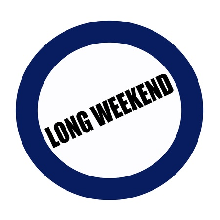 long weekend: Long weekend black stamp text on blueblack Stock Photo