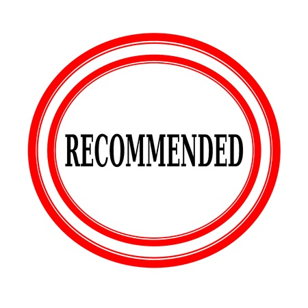 recommended: RECOMMENDED black stamp text on white backgroud