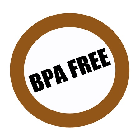 bpa: BPA FREE black stamp text on white
