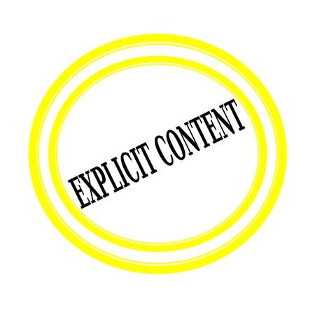 esplicito: Contenuti espliciti testo timbro nero su bianco backgroud