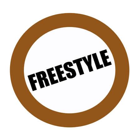 stylishness: FREESTYLE black stamp text on white