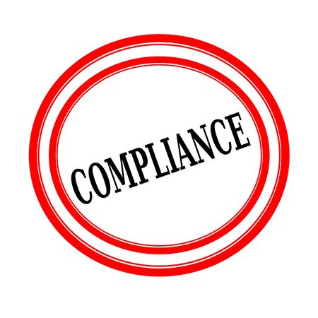 conform: COMPLIANCE black stamp text on white backgroud Stock Photo