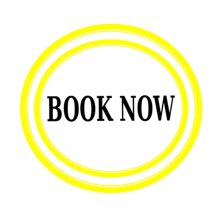 advertise with us: BOOK NOW black stamp text on white backgroud