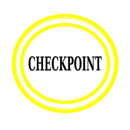 verification: CHECKPOINT black stamp text on white backgroud