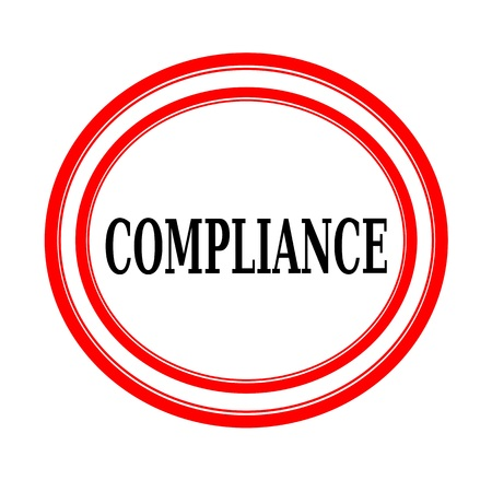 COMPLIANCE black stamp text on white backgroud Stock Photo