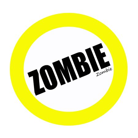 freaky: ZOMBIE black stamp text on white