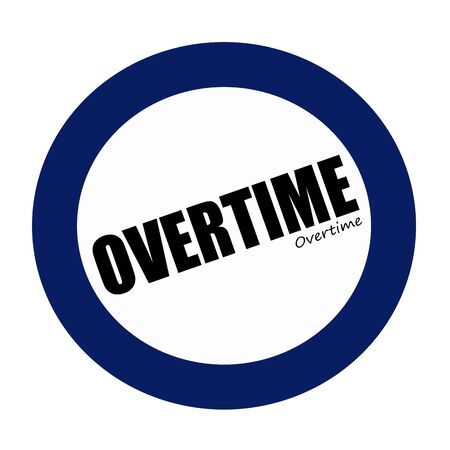 overtime: OVERTIME black stamp text on white Stock Photo