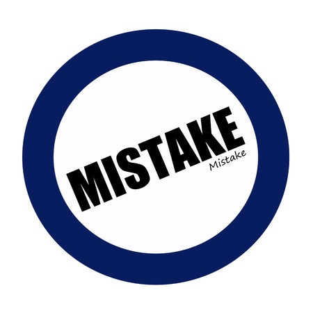 fallacy: MISTAKE black stamp text on white