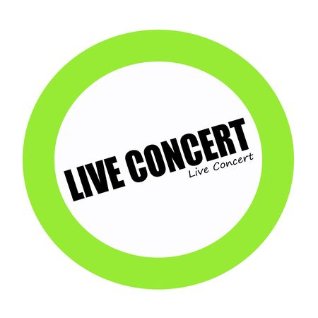 transmitted: LIVE CONCERT black stamp text on white