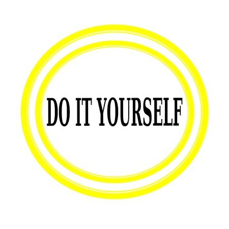 do it yourself: Do it yourself black stamp text on white backgroud