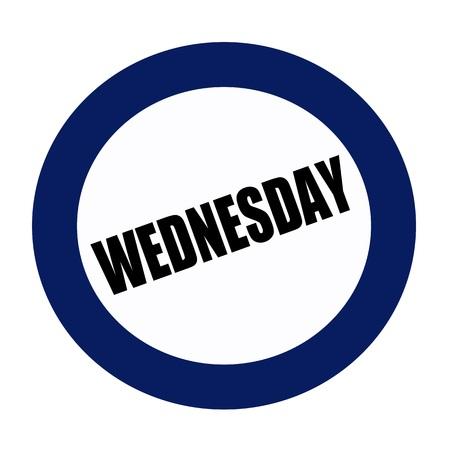 wednesday: WEDNESDAY black stamp text on white Stock Photo