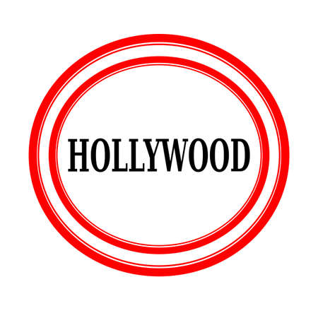 backgroud: HOLLYWOOD black stamp text on white backgroud