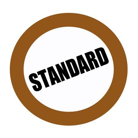 criterion: STANDARD black stamp text on white Stock Photo