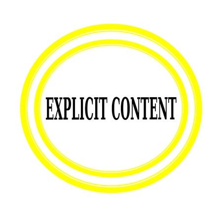 explicit: EXPLICIT CONTENT black stamp text on white backgroud