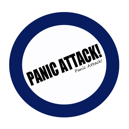 frenzy: PANIC ATTACK black stamp text on white