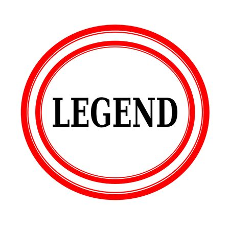 legend: LEGEND black stamp text on white backgroud