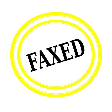 backgroud: FAXED black stamp text on white backgroud
