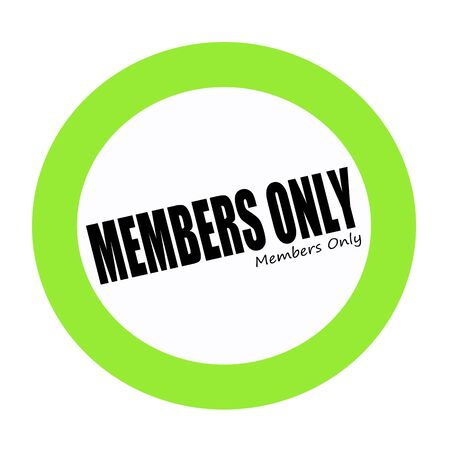 only members: MEMBERS ONLY black stamp text on white