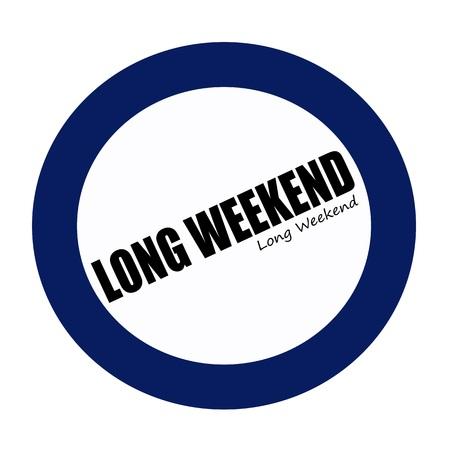 long weekend: Weekend lungo testo del timbro nero su BlueBlack
