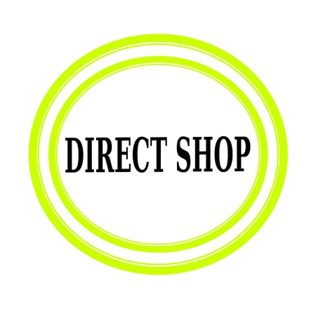 indirect: DIRECT SHOP black stamp text on white