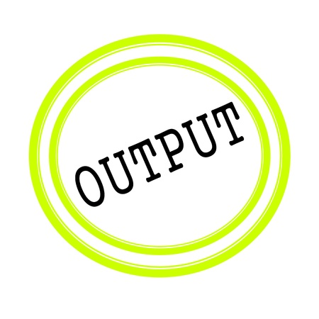 input output: OUTPUT black stamp text on white Stock Photo