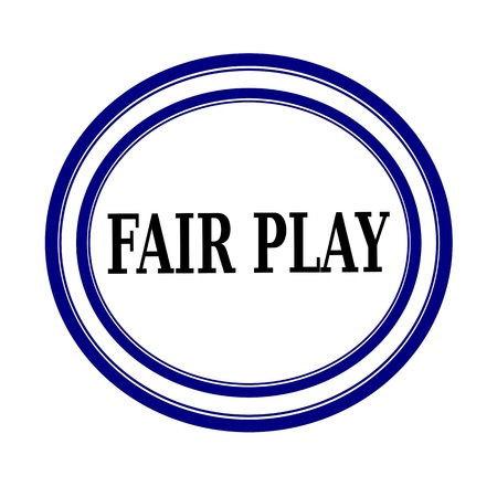 fair play: FAIR PLAY black stamp text on white background Stock Photo