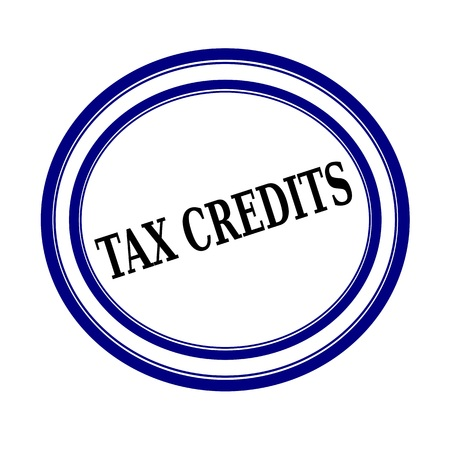 tax bracket: TAX CREDITS black stamp text on white background Stock Photo