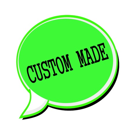 custom made: CUSTOM MADE black stamp text on green Speech Bubble