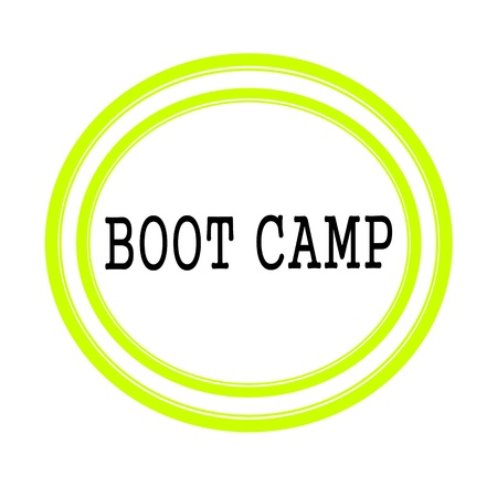 millitary: BOOT CAMP black stamp text on white