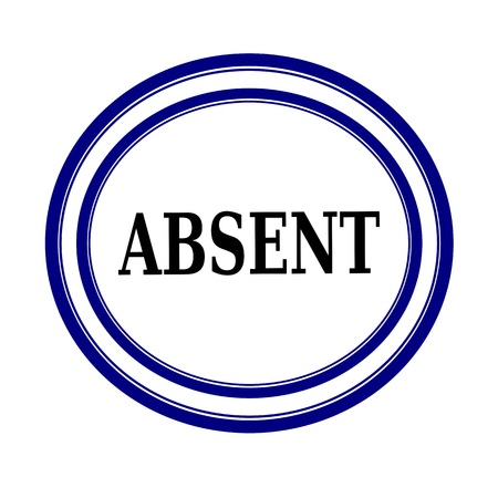 absent: ABSENT black stamp text on white background