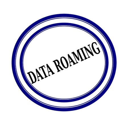 contractual: DATA ROAMING black stamp text on white background