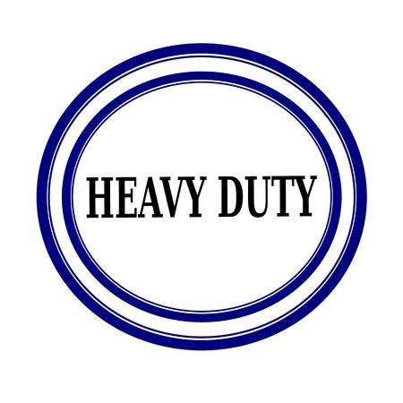 heavy duty: HEAVY DUTY black stamp text on white background