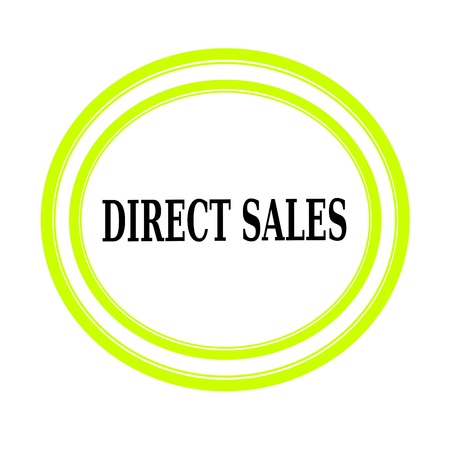 direct: DIRECT SALES black stamp text on white Stock Photo
