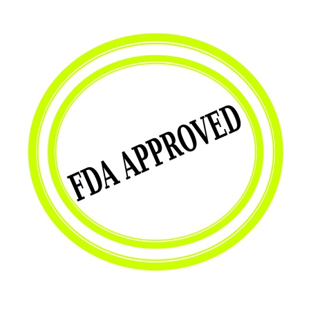 fda: FDA APPROVED black stamp text on white