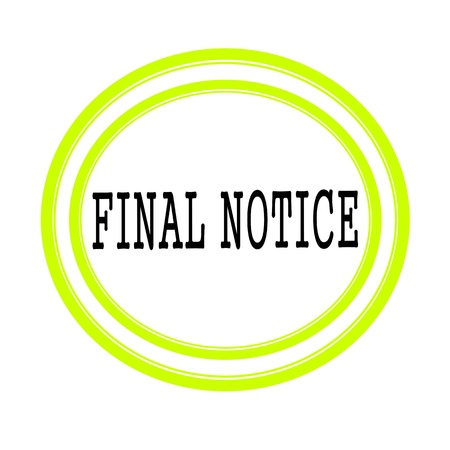 notice: FINAL NOTICE black stamp text on white