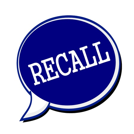 evoke: Recall white stamp text on blueblack Speech Bubble