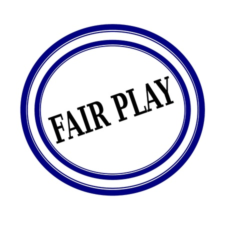 playschool: FAIR PLAY black stamp text on white background Stock Photo
