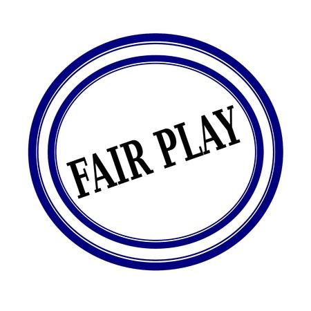 fair play: FAIR PLAY black stamp text on white background Stock Photo