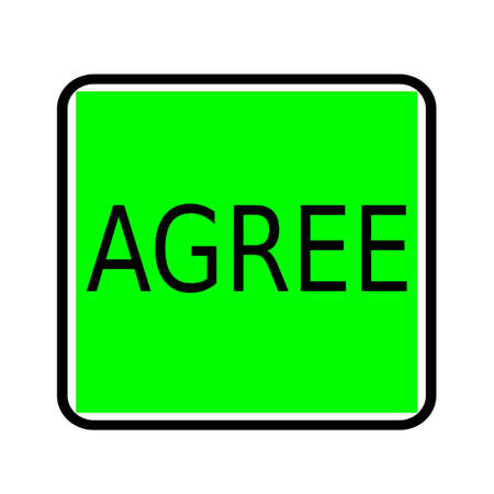 agree: Agree black stamp text on green background