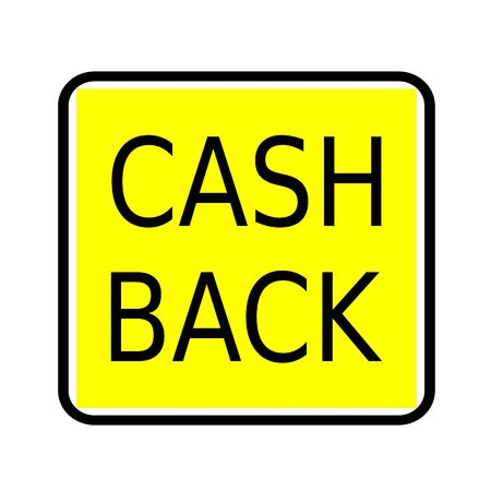 optimum: Cash back black stamp text on yellow background