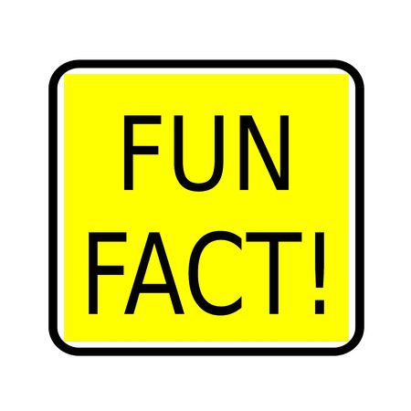 distraction: Fun fact black stamp text on yellow background