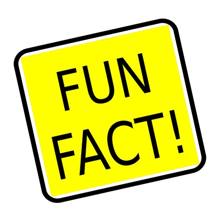 merriment: Fun fact black stamp text on yellow background
