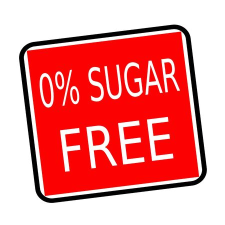 nonfat: Zero percent sugar free white stamp text on red background